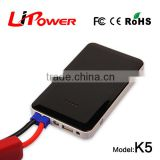 Ultra slim 8000mah portable emergency 12v car jump starter power bank with different colors