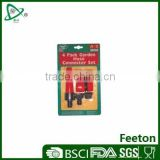 4 pack plastic garden hose connecter set
