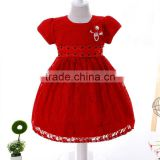 Top fashion toddler clothing short sleeve latest design modern patterns baby dress cutting