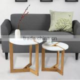 Modern style natural MDF top bamboo living room foldable round small coffee table