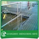 Galvanized steel ball joint stanchions with base plate for bridge handrailing