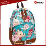 New arrival flower adult school bag
