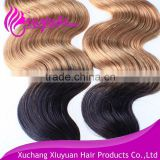 Raw unprocessed 6a quality virgin human bundles ombre hair extension
