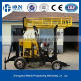 Wheel type or crawler water well drilling rig for selling!HF-2T hydraulic water well drilling rig