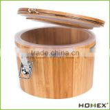 Bamboo Airtight Food Storage Canister with Lids Homex-BSCI Factory