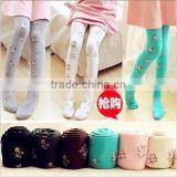 Christmas Girls Hot Sale Organic Baby Clothes Cheery Printed Winter Warm Fleece Liner Thick Kids Tights