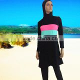 2017 new cheap price Muslim conservative swimming suit swim wear