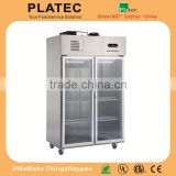 Luxurious Stainless Steel Deep Refrigerator/1020L Commercial Upright Freezer
