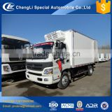 Made in china 10 tons refrigerated foton aumark 26.7cbm 5 tons reefer truck