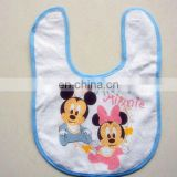 Cartoon cotton lace baby bib lovely cotton baby towel