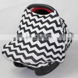 3 in 1 multi use baby car seat cover strecthy chevron infant car seat cover