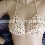halter top bra crochet