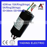 SRH 3899- 6p32s Through bore slip ring ID38mm. OD99mm.38Wires, 10A x6wires 5Ax32wires