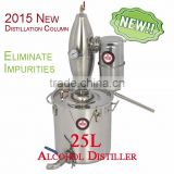 Multifunction!25L Household Stainless Steel Alochol Distiller For Sale Home Wine Distiller Distillation/Brewing Device