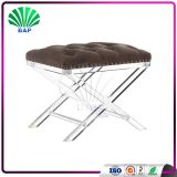 European Stylish One Seat X-Shape Leg Stool Soft Cushion Bench Piano Stool Bench