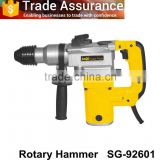 Big power 26mm with a soft rubber three functional rotary hammer