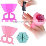 Silicone Wearable Nail Polish Bottle Holder Multifunction Varnish Display Stand Holder