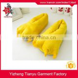 100% polyester cotton stuffed antiskid durable cute bear paw slippers