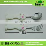 2014 new stainless steel flatware set with plastic handle for kids