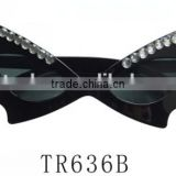 Halloween party gift bat shape sunglasses with rhinestone