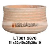 East Asia Round Streaky Classic Sandy Flower Pot For Manufacturer