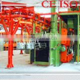 Piled and released type shot blasting machine used for removing sand and surface cleaning                                                                         Quality Choice