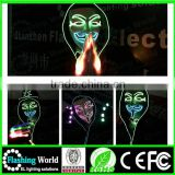 Interesting Vedio music actived Favorites factory custom unisex led skin mask