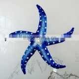 Decor Wild Republic Plush Blue Textured 5-Point Starfish Stuffed Pillow Toy