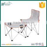 Small portable outdoor table and chair set for fishing