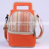 Cute Newest 600D Polyester Handle Dual Compartment Lunch Kit