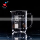 400ml handled glass beaker with duck mouth