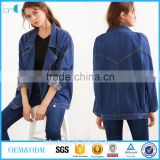 <b>womens</b> <b>denim</b> <b>jacket</b> Blue Double Breasted Boyfriend <b>denim</b> <b>jacket</b> women