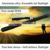 high quality led flashlight self-defense led torch flashlight zoom tactical flashlight