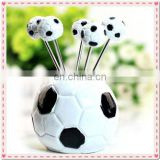 Wedding Gift football Design Fruit Fork