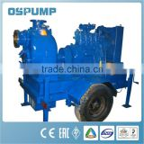 P series Non-clogging self priming sewage pump/Diesel engine self priming farm irrigation pump set
