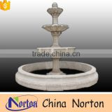 Natural white marble school decor large outdoor water fountains NTMF-SA064L