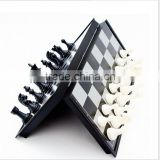 High Quality plastic International Chess magnetic Table for chess pieces Storage and Game Chess