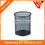 black round iron mesh metal pen holder