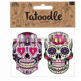 Mexican Day Of The Dead temporary face mask tattoo for halloween costume
