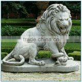 antique outdoor decorative granite lion statue for sale