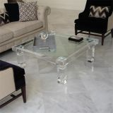 High Quality Glass Square Coffee Table Turkish Furniture Coffee Table Minimalist Coffee Table