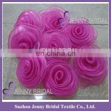 FL017 wedding decoration fushia rose flowers for chair covers