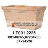 Rectangle Romance Classic White Wash Terracotta Pottery