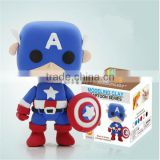 Wholesale Superhero Captain America DIY Action Figure Clay Doll Model Kids Educational toy