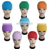 Random mix Solid colors Cheap Knit swimming cap