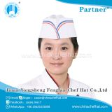 White chef hat with print logo cheap paper forage cap