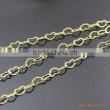 Gold Tone Heart Chain Copper Link Chain For Jewelry Diy