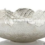 leaf design metal silver bowl for sale