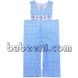 Cute boy smocked cross longalls for Easter - BC 661