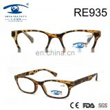 2017hot sale high quality style leopard print PC reading glasses